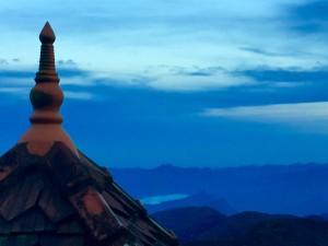 Temple roof at the top of Adams Peak, Sri Lanka December 2015