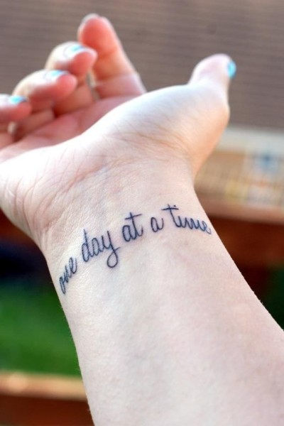 one day at a time tattoo
