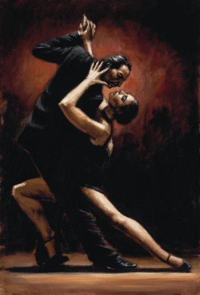 two people doing the tango