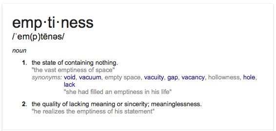 What Do Buddhists Mean by Emptiness?