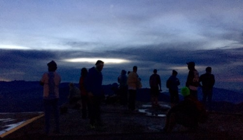 Fellow Pilgrims who arrived shortly after us, waiting for sunrise. Adams Peak, Sri Lanka, 2015
