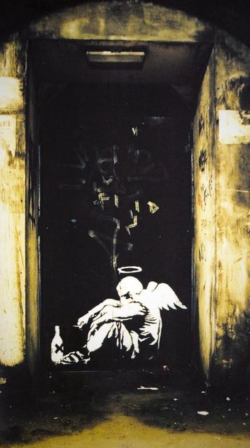 street art angel