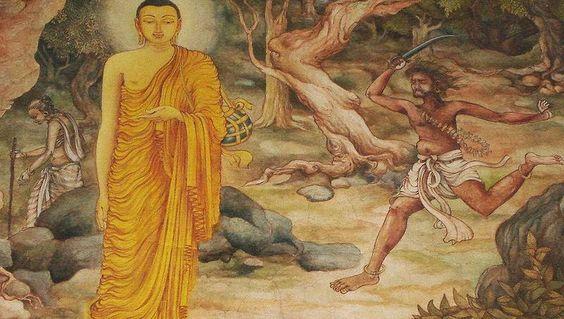 Buddha & Angulimala