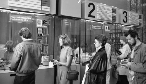 Juni 1988 Bonn - Innenstadt - Hauptpostamt am Münsterplatz