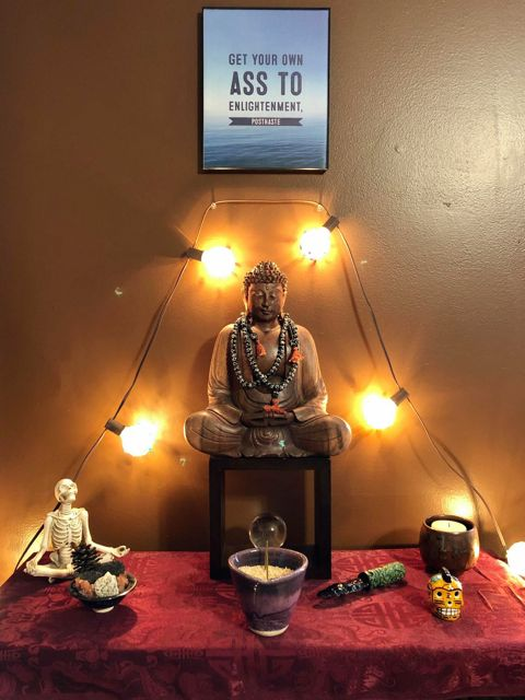 Sacred Little Altars Everywhere: A Playful Space Because I'm not Much of a Devotional Guy