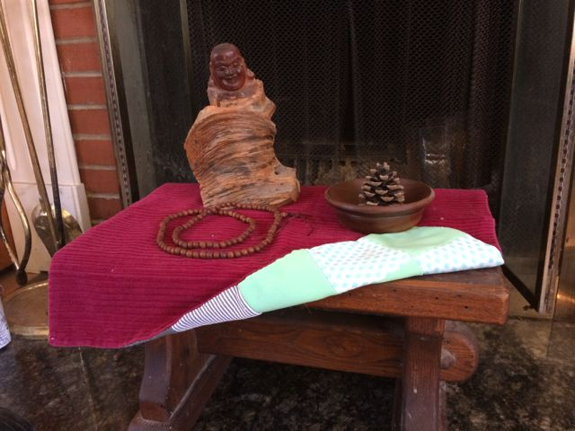 Sacred Little Altars Everywhere: A Wooden Stool, a Cat Blanket & Reminders of Moments That Shaped Who I am Becoming